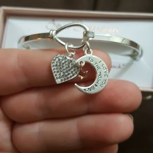 """Silver Expressions Jewelry - """"I love you to the moon &back""""fine silver bracelet"""